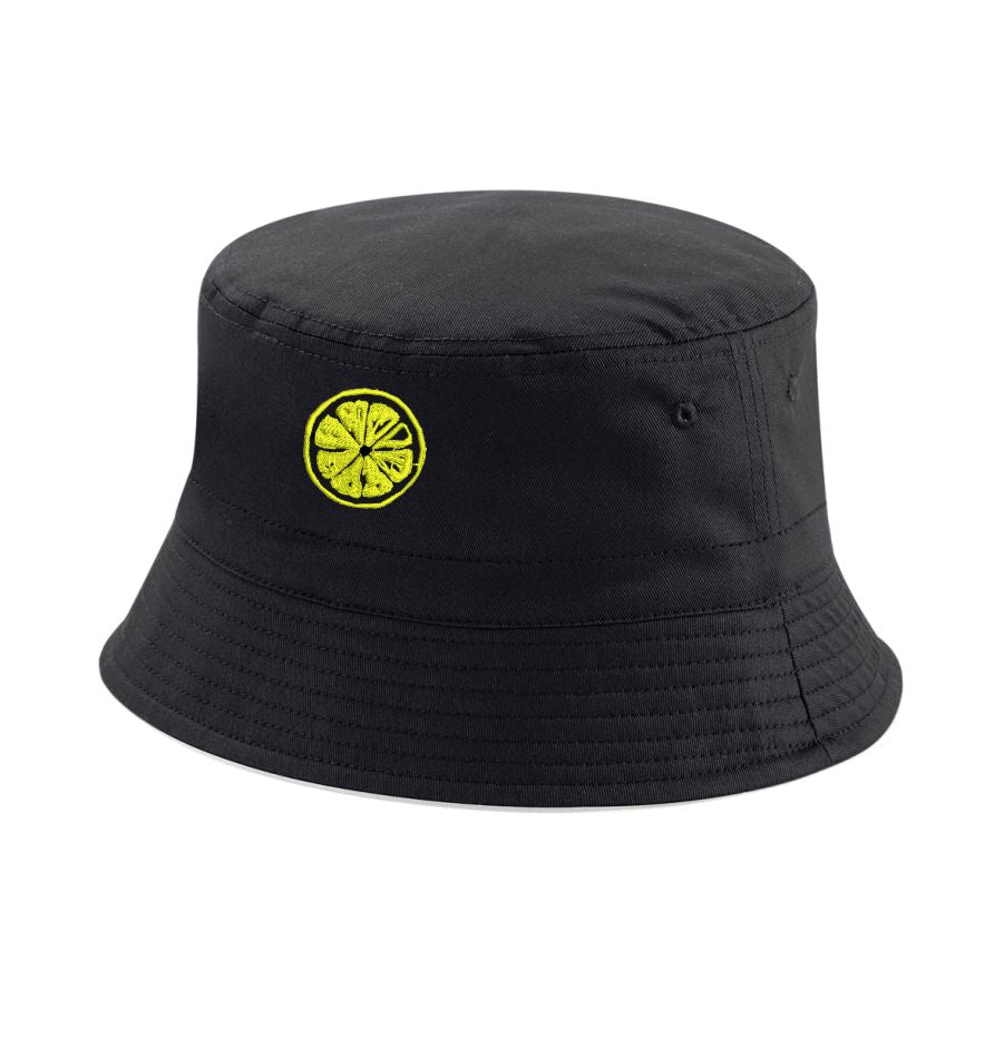 The Stone Roses Adored Bucket Hat With Embroidered Lemon Badge in Black