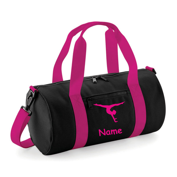 Gymnastics Holdall In 4 Different Colour Combinations and 2 Different Gymnast Poses - Free Personalisation