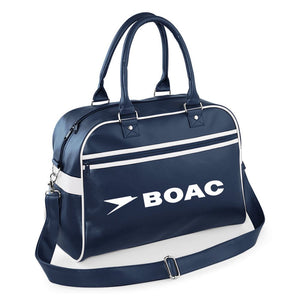 Luxury Retro BOAC Flight Bag  'Bowling Bag' Style Luggage