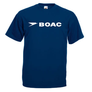Retro BOAC Airlines Mens Tshirt, Classic 1970's Retro Pan Am TShirt S-XXXL Navy