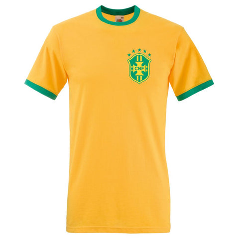 Retro Unofficial Soccer Brazil Football Shirt