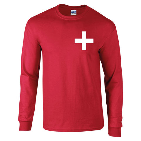 Z Retro Long Sleeved Switzerland Football Shirt