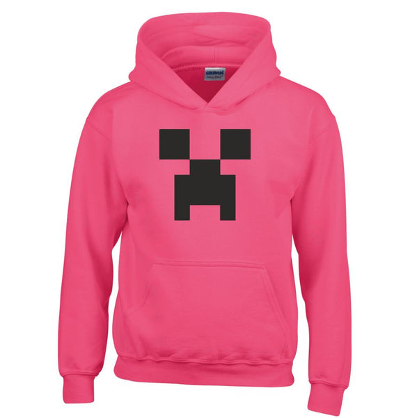 MINECRAFT CREEPER HOODIE Jumper Sweatshirt - FOR LIMITED TIME WITH FREE OFFICIAL MINECRAFT WRISTBAND & FREE PERSONALISATION !!!