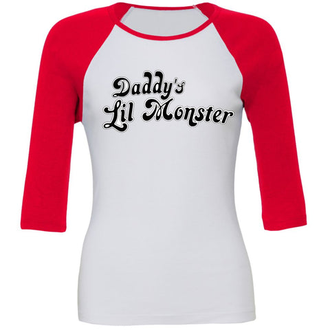 Daddy's Lil Monster TShirt 3/4 Length Sleeved,