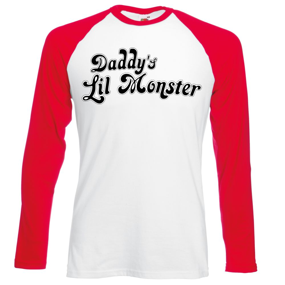 Daddy's Lil Monster TShirt Long-Sleeved, Suicide Squad T Shirt,