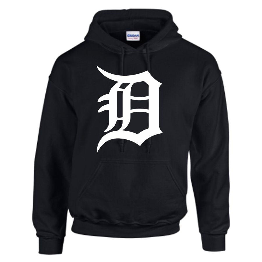 Mens 'DETROIT LEGEND' Hoodie -Techno Tigers Baseball House Music Swag Kanye Dilla