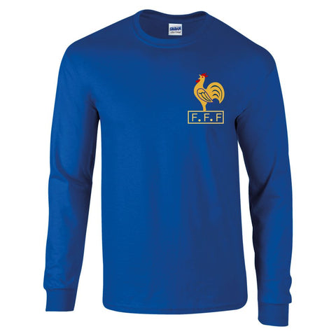 Z Retro Long Sleeved France Football Shirt