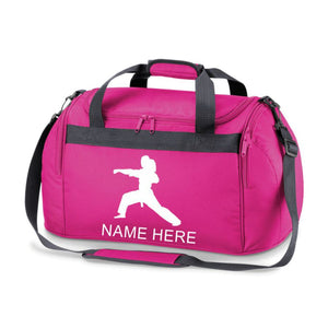Girls Karate Sports Bag Holdall- Comes in either Pink, Navy, or Royal Blue. FREE PERSONALISATION