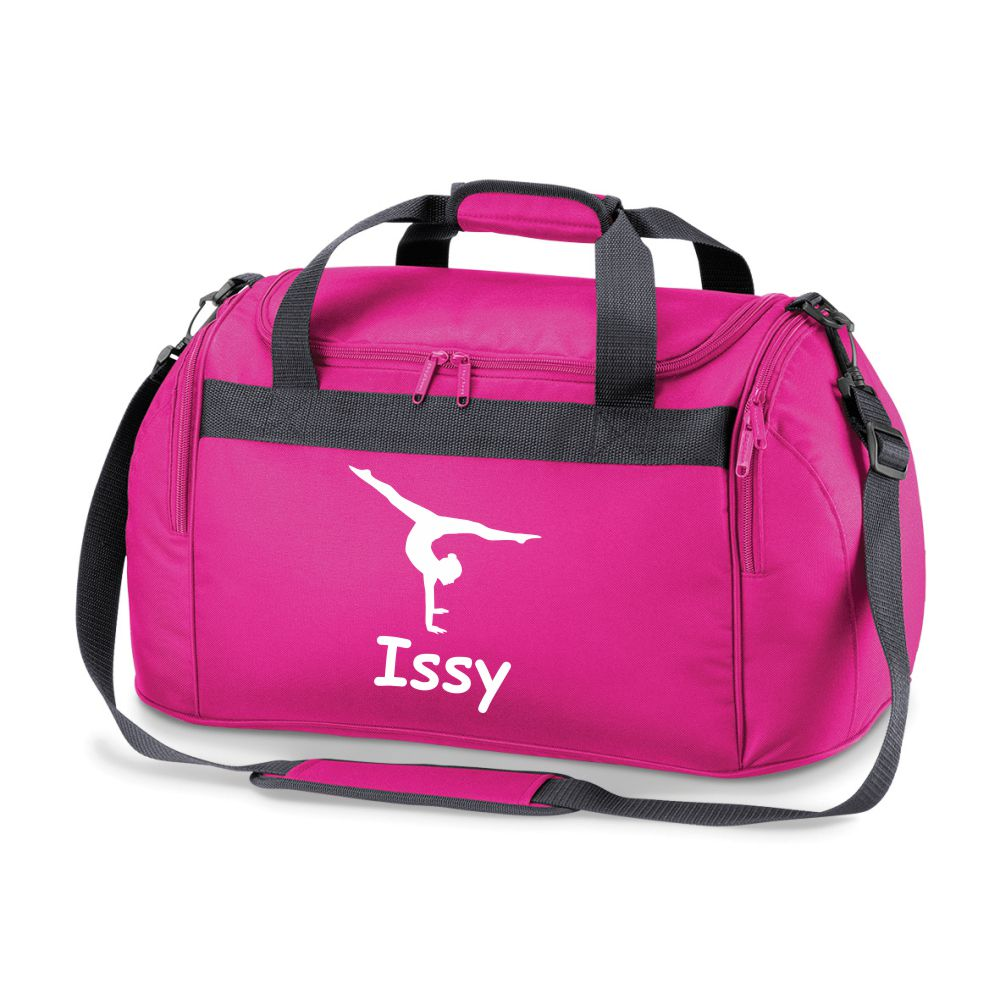 Gymnastics Sports Bag Holdall- Comes in Pink, Red, Royal Blue or Black.FREE PERSONALISATION
