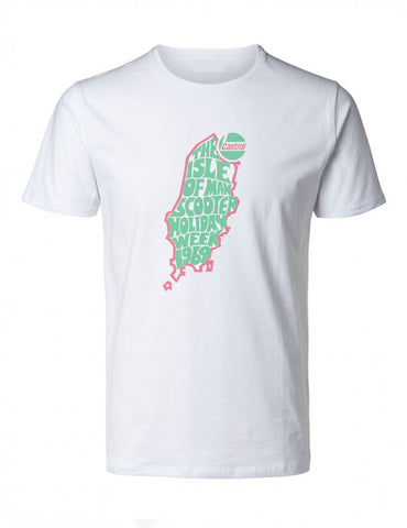 Castrol Isle of Man Scooter Holiday Week T-Shirt 1969