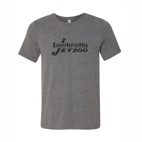 Lambretta Jet 200 Dark Heather Grey TShirt - Comes With Logo In Black or White FREE UK POSTAGE !!