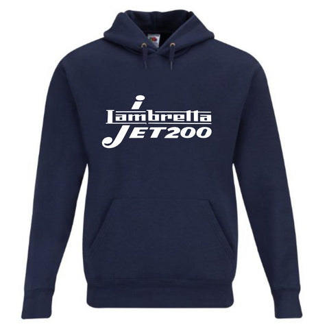 Lambretta Jet 200  Premium Quality Hoodie - Comes In Black or Navy FREE UK POSTAGE !!