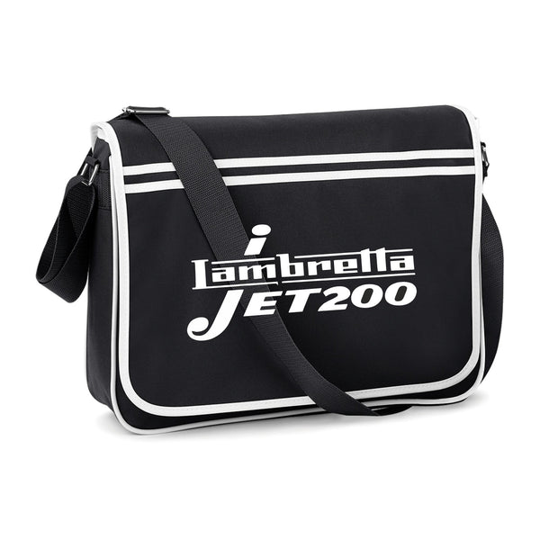 Lambretta Jet 200 Courier Style Bag - Comes In Navy/White, Red/White & Black/White - FREE UK POSTAGE !!
