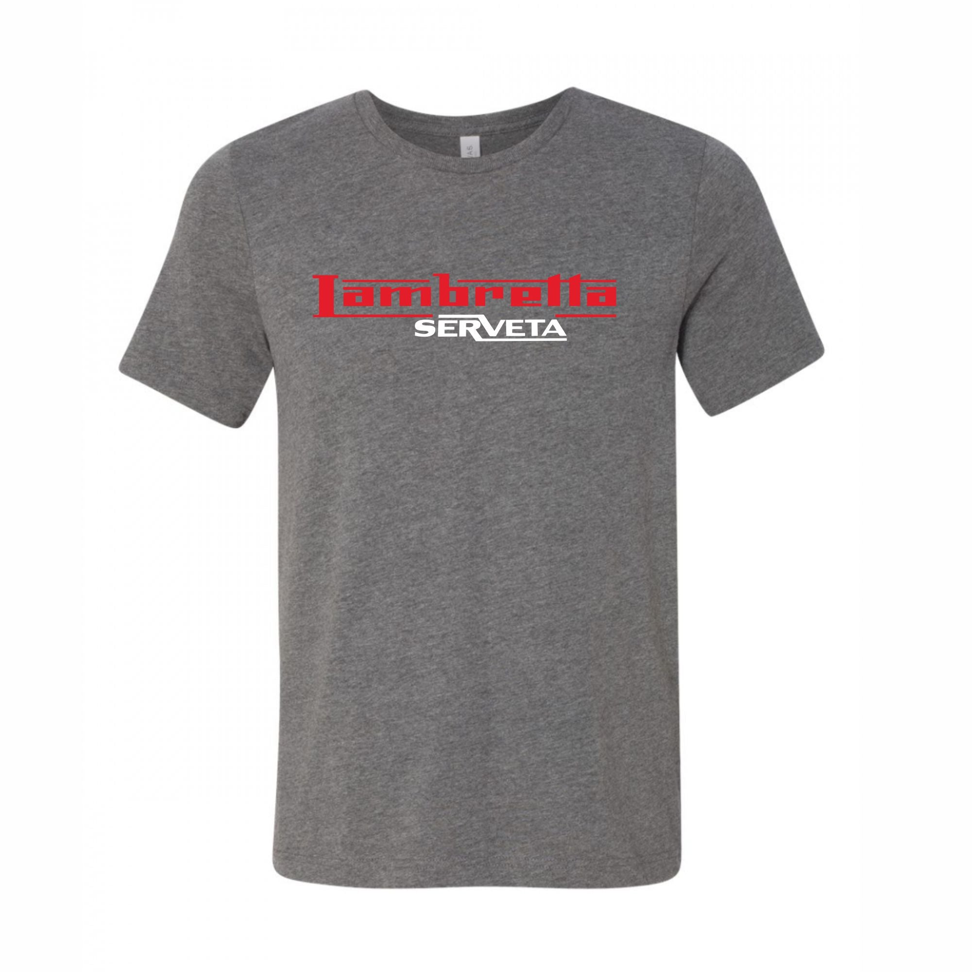 Lambretta Serveta Premium Quality T-Shirt - Comes In Dark Heather Grey FREE UK POSTAGE !!