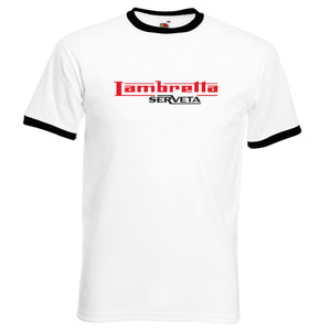 Lambretta Serveta Ringer T-Shirt - Comes In 3 Colours - FREE UK POSTAGE