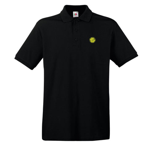 Stone Roses Embroidered Lemon Badge Premium Polo Shirt