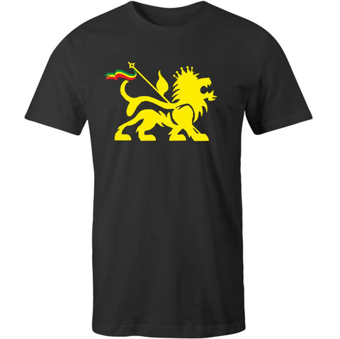 Lion Of Judah Black T-Shirt Reggae Rasta Bob Marley Jamaica, Ska, Trojan Records