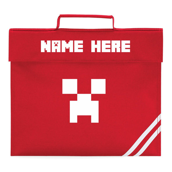 Minecraft Creeper Book Bag Personalised Creeper