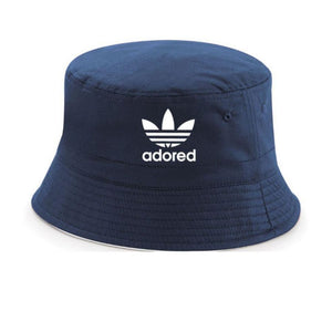 The Stone Roses Adored Bucket Hat In Navy Reni