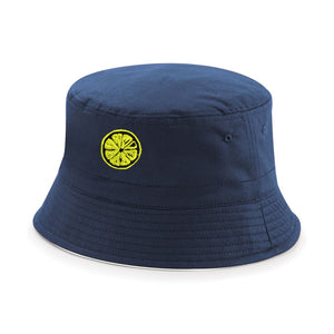 The Stone Roses Adored Bucket Hat With Embroidered Lemon Badge in Navy