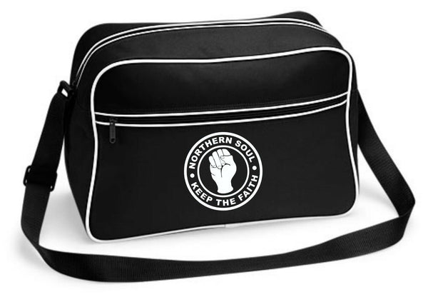 Northern Soul Keep The Faith Wigan Casino Shoulder Bag