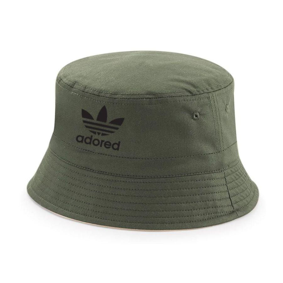The Stone Roses Adored Fully Reversible Bucket Hat - 2 Hats In 1- Ian Brown Spike Island 25th Anniversary Tribute Bucket Reni