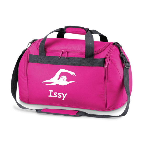 Swimming Sports Bag Holdall - Comes in either Pink, Red, or Royal Blue or Black.