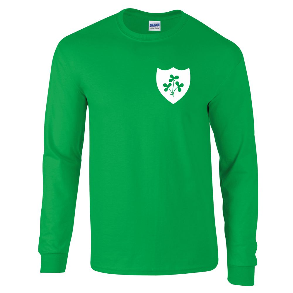 Republic Of Ireland Retro Long Sleeved Football Shirt,