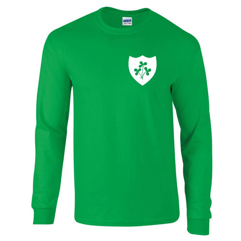 Z Republic Of Ireland Retro Long Sleeved Football Shirt,