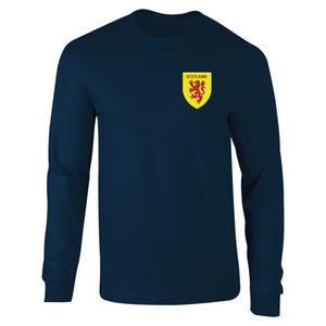 Retro Long Sleeved Scotland Football Shirt
