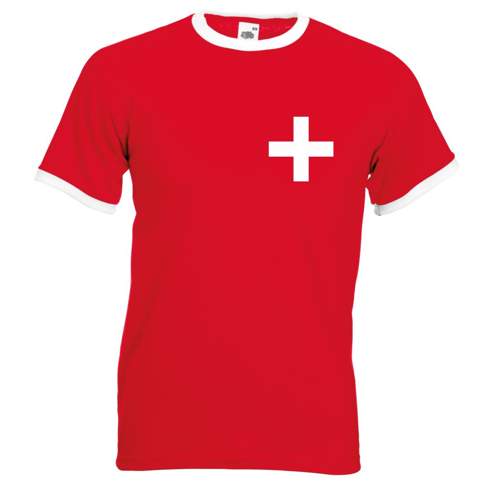 Retro Swiss Football Shirt TShirt Euro 2016 Old fashioned Switzerland football shirt Suisse
