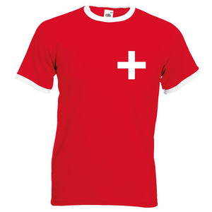 Z Retro Swiss Football Shirt TShirt Euro 2016 Old fashioned Switzerland football shirt Suisse