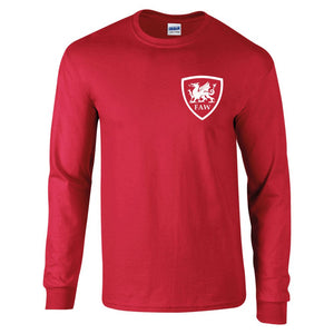 Retro Wales Long Sleeved Football Shirt