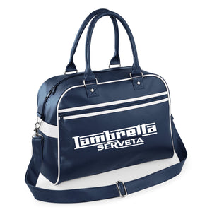 Lambretta Serveta Bowling Bag - Comes In Navy/White  - FREE UK POSTAGE !!