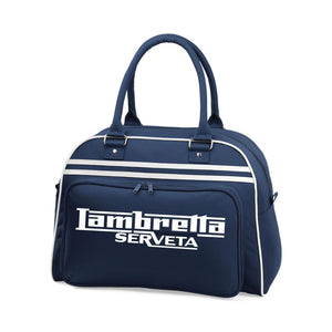 Lambretta Serveta Bowling Bag - Comes In Navy/White or Red/White - FREE UK POSTAGE !!