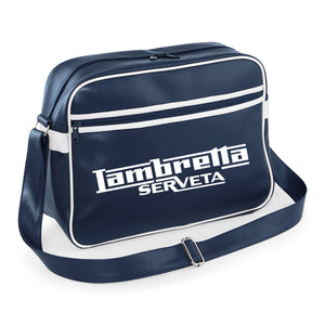 Lambretta Serveta Shoulder Bag - Comes In Navy/White or Red/White - FREE UK POSTAGE !!