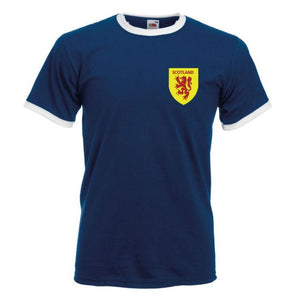 Retro Scotland Football Shirt TShirt Euro 2016 Old fashioned Scottish football shirt