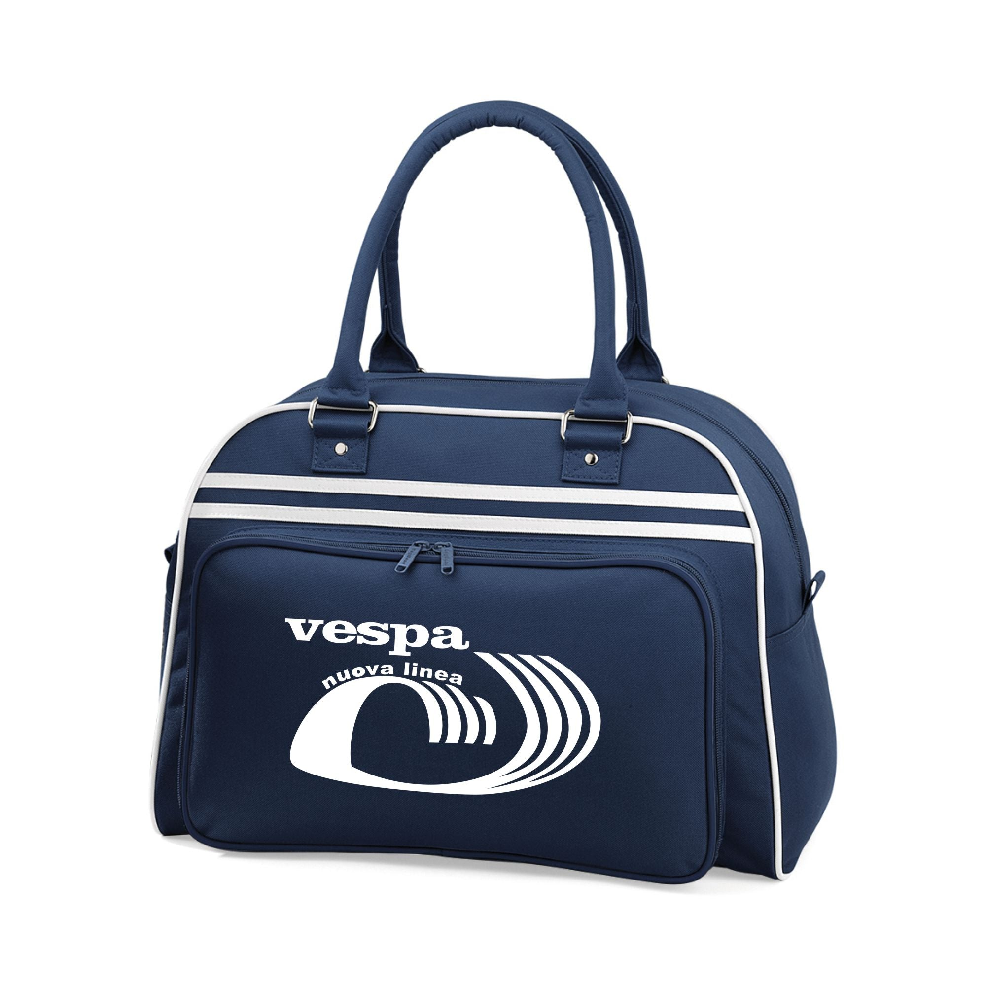 Vespa Nuevo Linea Bowling Bag - Comes In Navy/White, Red/White & Black/White - FREE UK POSTAGE !!