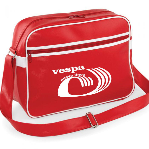 Vespa Nuevo Linea Shoulder Bag - Comes In Navy/White or Red/White - FREE UK POSTAGE !!