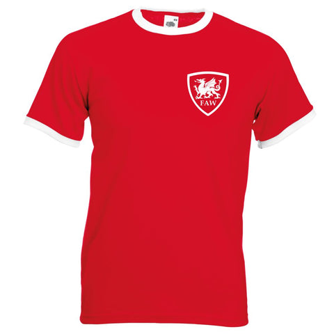 Z Retro Wales Football Shirt TShirt Euro 2016 Old fashioned Welsh football shirt Cymru