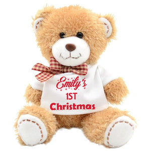 My First Christmas Teddy  Bear - Fizzy Strawberry Gifts