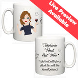 Personalised Face On A Mug (Fair Skin) - Fizzy Strawberry Gifts