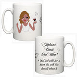 Personalised Face On A Mug (Dark Skin) - Fizzy Strawberry Gifts