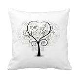 Family Tree Cushion (10 Names) - Fizzy Strawberry Gifts