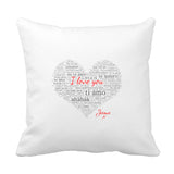 I Love You 100 Cushion - Fizzy Strawberry Gifts