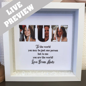 MUM Photo Word Frame - Fizzy Strawberry Gifts