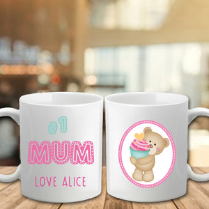 Mother's Day Mug - Number 1 Mum - Fizzy Strawberry Gifts