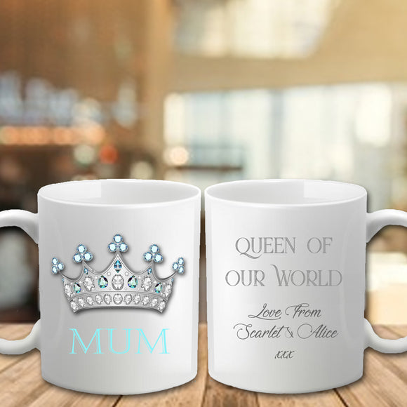 Mother's Day Mug - Queen Mum - Fizzy Strawberry Gifts