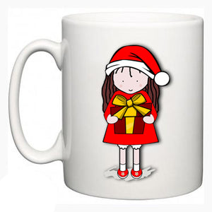 Personalised Christmas Mug - Daisy Design - Fizzy Strawberry Gifts