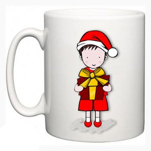 Personalised Christmas Mug - Dylan Design - Fizzy Strawberry Gifts